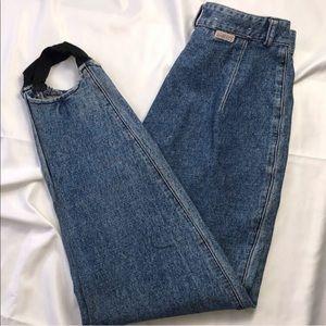80's Vintage Guess | 0/2 Women Stirrup Blue Jeans